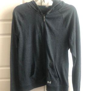 EUC Under Armour gray hoodie